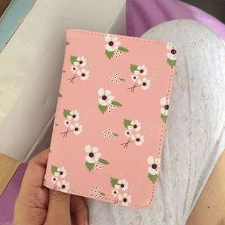 Pink Floral Print Passport Holder