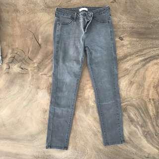 Gray Uniqlo denim jeans