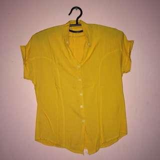 Yellow Polo Blouse
