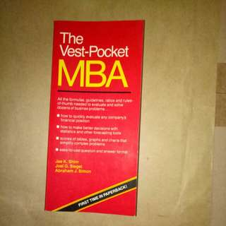 The vest pocket MBA by Jae Shim, Joel Siegel, Abraham Simon