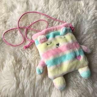 Cute little rainbow bunny bag