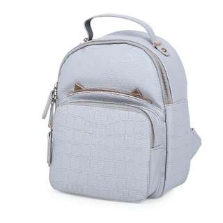 STYLISH STONE PATTERN PURE COLOR SHOULDER DIAGONAL BAG FOR LADIES (GRAY)