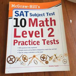 McGraw-Hill's SAT Math level 2 practice tests