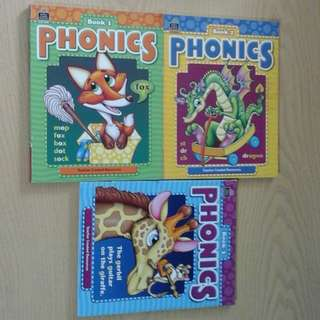 🎆🎇CNY Special 50%off. 3 Teacher Created Resources Phonics Book 1 to 3