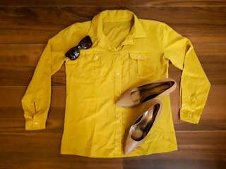Repriced!!! Repriced!!! Longsleeves Outfit - Yellow
