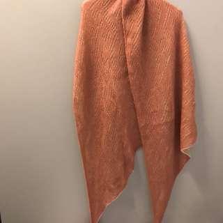 保䁔毛披肩頸圍巾(97%新)