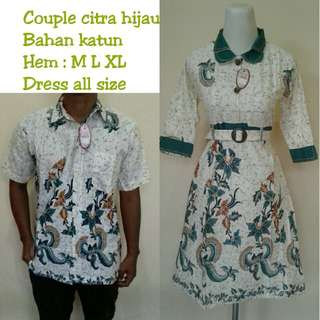 Couple dress batik citra