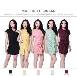 Muffin Fit Dress (Rok Baju Atasan Kaos Casual)