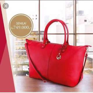 Red Tote Keepall Bag
