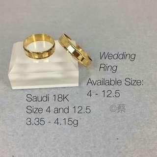 18k Saudi gold wedding ring