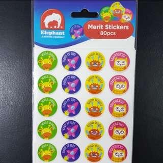 BN Animals & Monsters Merit Stickers