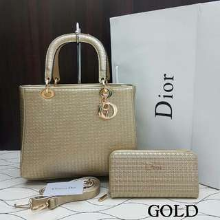 Lady Dior Cannage Gold Color