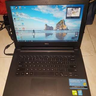 """Dell Inspiron 3442 14"""" Intel i3-4005U 4GB Ram 500 GB HDD Windows 10"""