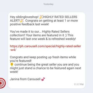 ❤5th Time..  Thank You Carousell!!!  😊🙂😊🙏