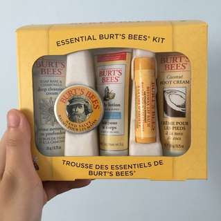 Essential Burt's Bee kit gift set