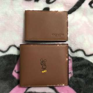 ❣️Coach x Disney ❣️Mickey Mouse 米奇老鼠全新短銀包 short wallet 連卡片套