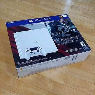 [BNIB] Sony PS4 Pro 1 TB - Glacier White Destiny 2 bundle