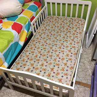 Children Bed Frame FREE Mickey Mouse Bedding Kids Baby Cot