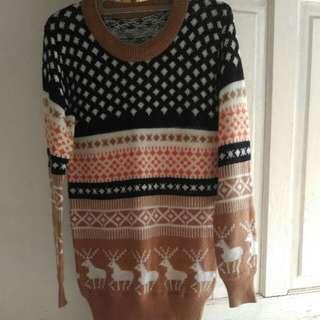 Baju Sweater Cokelat