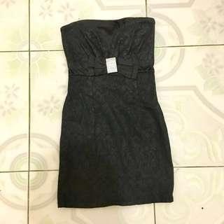 Genevieve Gozum Black Tube Dress