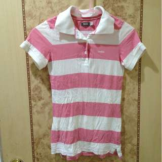🚚 ROOTS粉色橫條紋短袖上衣