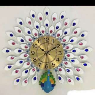 Peacock Luxury Clock