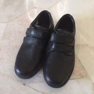 Original Clarks Black Leather Shoes For Kids