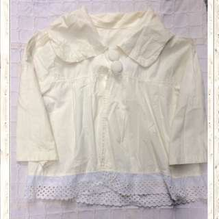 White laced poncho