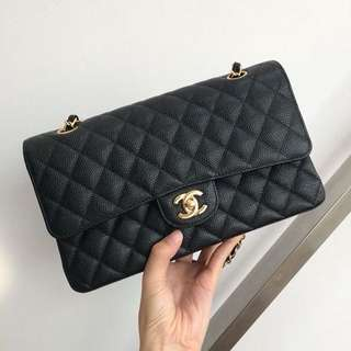 CHANELCF Classic Flap Medium Black Caviar GHW