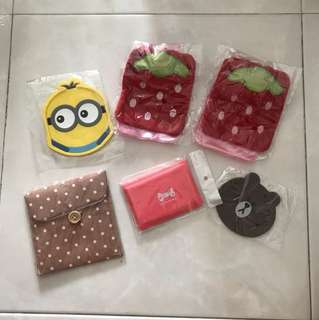 Coaster, Card Holder, Pouch and Water Bag