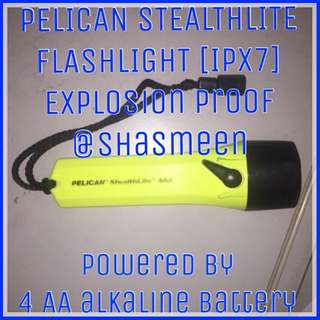PELICAN STEALTHLITE Explosion Proof Torch Light IPX7