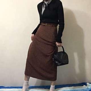 棉麻復古長裙