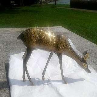 Beautiful crafted bronze Arabian deer