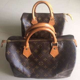 Authentic LV Speedy 25 & 30