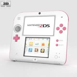 Nintendo 2DS Pink & White