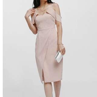 Love, Bonito off shoulder foldover dress