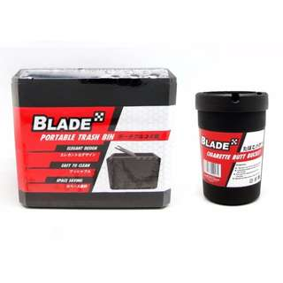 Blade Portable Trash Bin and Cigarette Butt Bucket