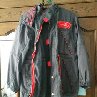 Vintage Jacket With Red Plaid Detail