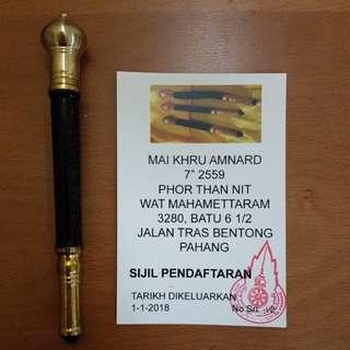 Phor Than Nit Maikru/Maitao/Tongkat made from Kemuning Hitam wood