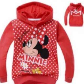 Last 2 pcs no more restock .. Minnie Mouse Long sleeve brand new size 120/130cm