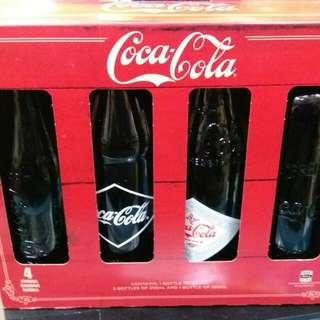 Coca Cola 可口可樂 - 澳洲復古樽可樂禮盒版一套4枝