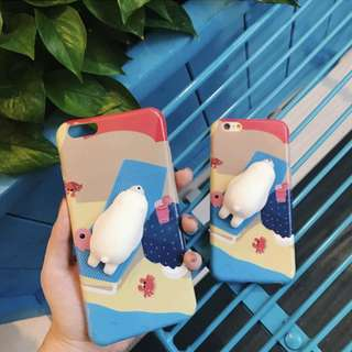 3D Silicon Animal Case cover Soft TPU Squishy iPhone 6 6s 7 plus Seal