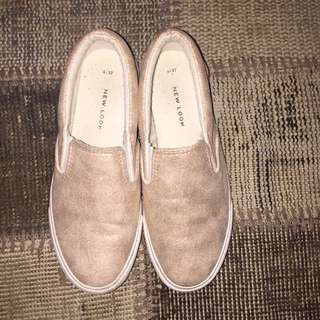 New Look Rose Gold Slip On