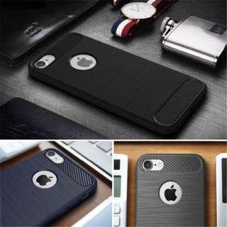 IxxCSx TPU brushed carbon fiber Case cover Iphone 5 5s SE 6 6s 7 7 plu