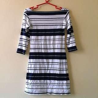 Striped Long Top / Blouse