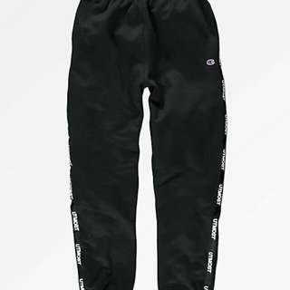 Utmost Co. Solid Logo Tape Black Sweatpants