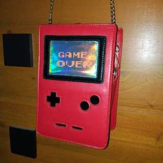 Gameboy Game Over Red Sling Bag