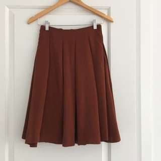 Burnt Orange Uniqlo Skirt
