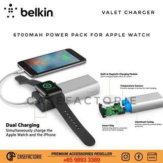 Belkin Valet Charger 6700mAh Power Pack For Apple Watch