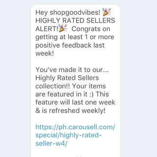 Highly Rated Seller 💖